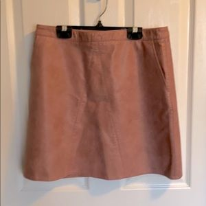 Zara Faux Leather Pink Skirt